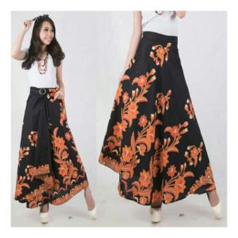 SB Collection Rok Maxi Yanti Long Skirt Batik Hitam .