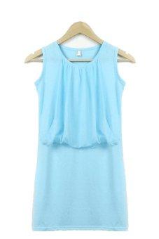 Cressida Skinny B188 Biru Beli Harga Murah Source · SuperCart Sleeveless Casual Mini Dress Blue