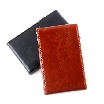 Harga High Quality Store New Fashion Soft Leather Business Name ID Credit Card Wallet Case Bag Holder