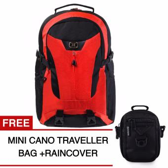 Harga Gear Bag - The Flash Edition Backpack - Orange + Raincover + GRATIS Mini Cano Traveller
