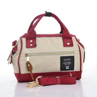 Harga Anello Top Handle Bag - Beige/Red