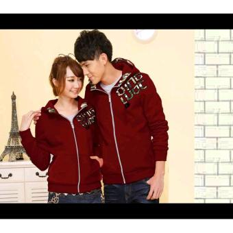 Harga Sweater Couple Qing Army Maroon Babyterry
