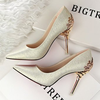 Harga Fashion High-Heeled Shoes Woman Pumps Sexy Thin Heels High Heels Suede Pointed Toe Women Shoes Closed Toe Ladies Wedding Shoes