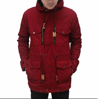Harga Parka Maroon Zipper Pocket