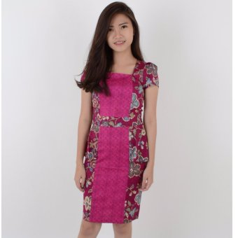 Harga De Voile Batik Fashion Wanita Modern Slim Izzy ds (Purple)