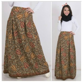 168 Collection Rok Maxi Cathrine Batik Long Skirt-Coklat