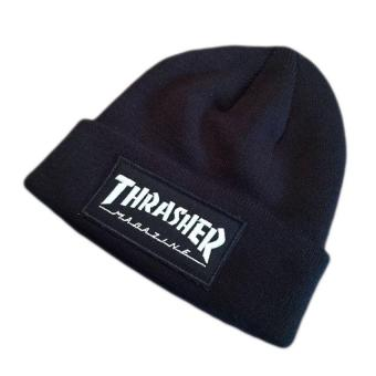 Harga fashion Thrasher Cap Beanies Hats Top Quality Cotton Winter Embroidery Knitted Caps Hip Hop Cap (Black) - intl
