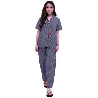 QuincyLabel Baju Tidur Salur Premium - Navy