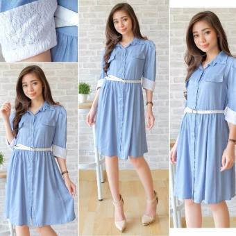 Harga Kyoko Fashion Dress Arina - REI (Biru)
