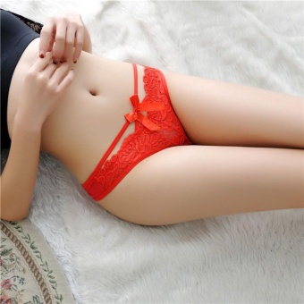 Harga Cutevina - Red Lace G String Underware Sexy / Lingerie Celana Dalam all size (LL012)