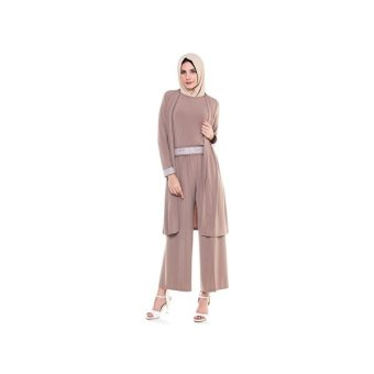 Harga Java Seven Long Dress Wanita Sabhira OKI 002 - Coklat