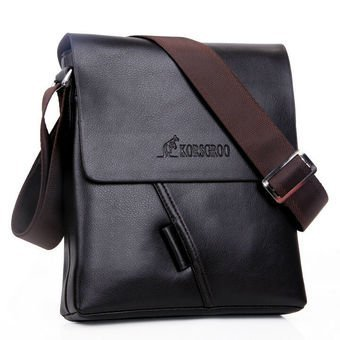 Harga New collection KRG kangaroo men bags, men casual leather stylish messenger bag, brand designer man small crossbody shoulder bag - intl