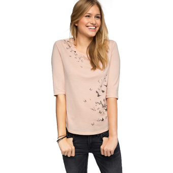 Harga Esprit Floaty Print Jersey Top - Dusty Nude