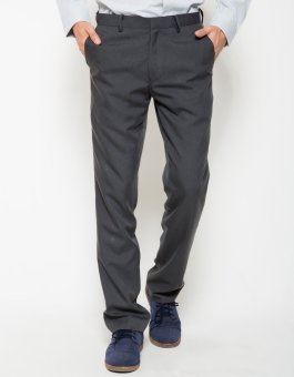 Traffic Brandon Celana Panjang Formal Pria Slim Fit - Abu
