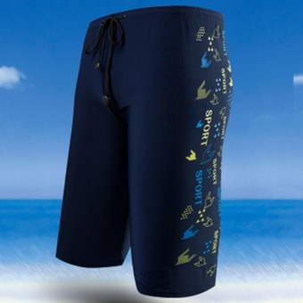 Harga Men's fashion boxer swimming trunks 8727 - intl