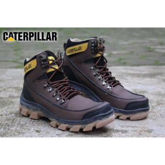 Harga Sepatu Caterpillar Safety Woods Darkbrown