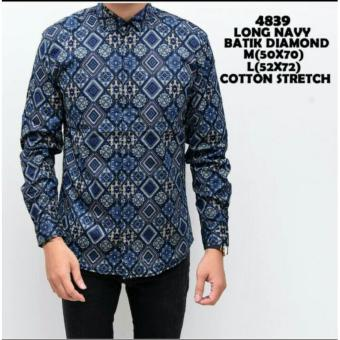 bajuku murah long navy batik diamond 4839