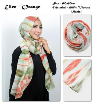 Harga Fashion Pashmina Ellen - Orange