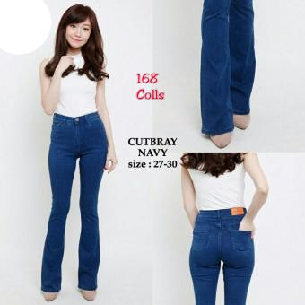 ... White Scratch Jeans Pant Putih Source · 168 Collection Celana Cutbray Jeans Pant Navy