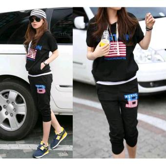 Harga Stelan Boston Black - B3004