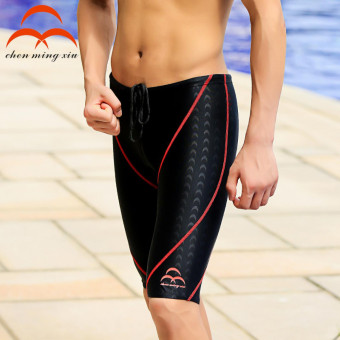 Harga Celana Renang Pria Sharkskin Swimming Trunk Pants - Red/Black