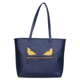 Harga QuincyLabel Tote Monster - Navy