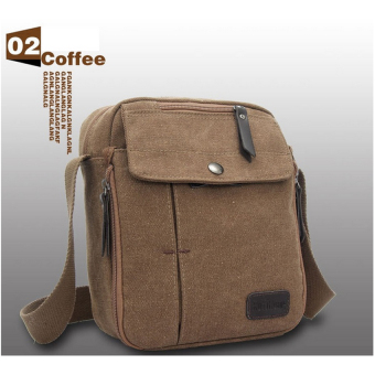 Harga Shimon Men Messenger Bag Canvas Vintage Shoulder Crossbody Bags Outdoor Travel Bag (Coffee)