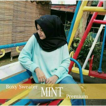 Harga Boxy Sweater Premium (Mint)