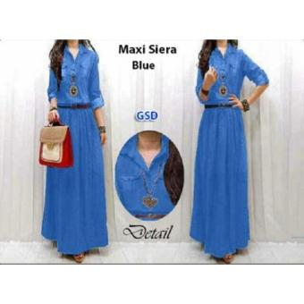 Harga NCR - Terusan Dress- Maxi Siera Denim Blue