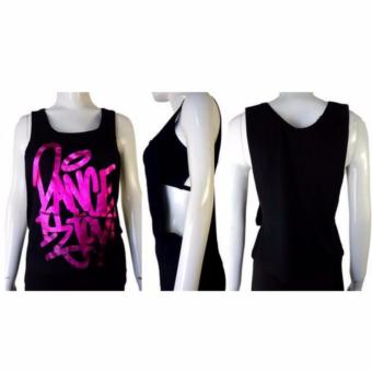 Kira Sports Tanktop Baju Atasan Senam wanita / Tanktop Baju Atasan Olahraga Wanita NAT505-Blk