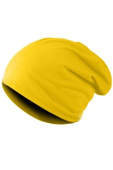 Harga SuperCart Unisex Hip-hop Beanie Hat (Yellow)