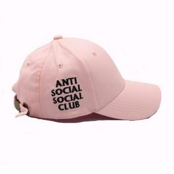 Hanyu baru pria wanita anti sosial topi topi Baseball Club Hitam Source Harga .