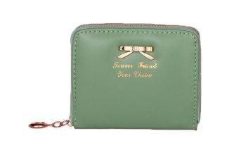 niceEshop fashion wanita ritsleting PU kulit tas dompet Pemegang Kartu Mini tas tangan (hijau)