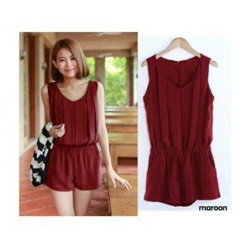 Harga 168 Collection Celana Terusan Jumpsuit Rachel-Maroon