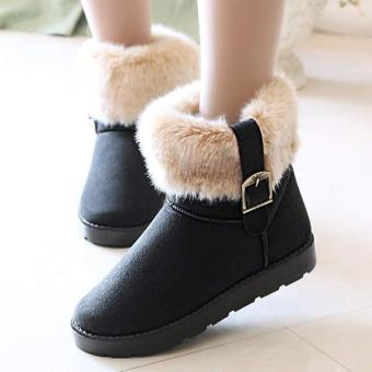 Harga MG Snow Boots Ankle Boots Warm Shoes (Camel) - intl