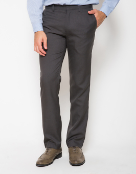 Traffic Matthew Celana Panjang Formal Pria Slim Fit - Abu