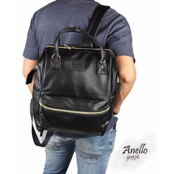 Harga Tas Anello Backpack Leather - Medium - Black