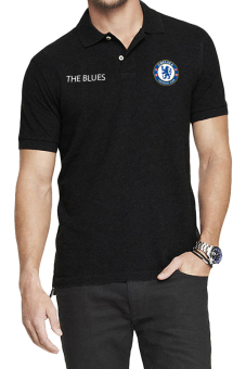 QuincyLabel Polo Soccer Shirt The Blues chelsea-Black