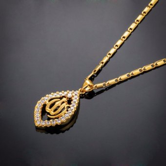 Harga Muslim Jewelry Pendant Necklace 18K gold plated jewelry