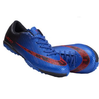 Harga Children Football Shoes Boots Unisex Soccer Boot Football Boots Indoor Football Shoes Train Sneakers (Blue) - intl