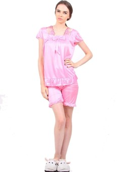 Harga You've 010 Ribbon Vision Sleepwear - Soft Pink