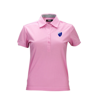Ladies' Golf Polo T-shirt Cotton Short Sleeve Tee(Pink)