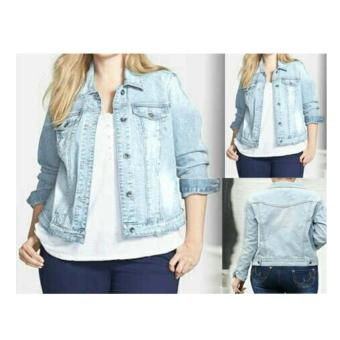 Harga 168 Collection Jaket Maria Jumbo Jeans-Biru
