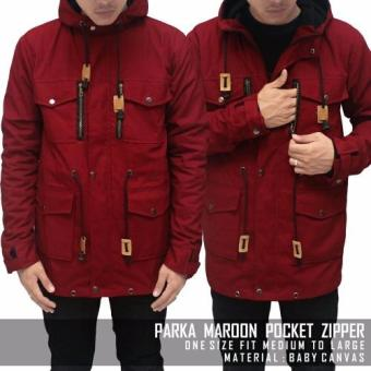 Harga BGSR Parka Pocket Zipper (Maroon)