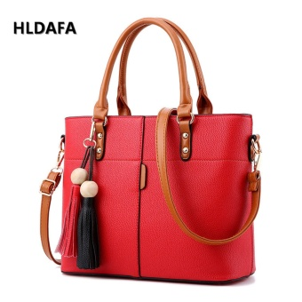 Harga Fashion Female Bag Messenger Bag Top-Handle Bags (Red) - intl