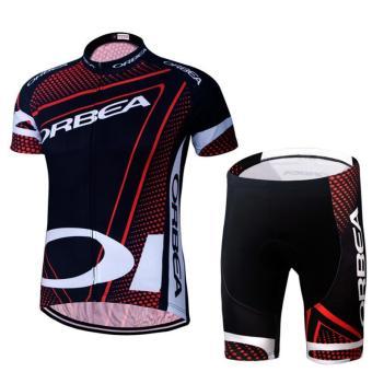 Pria bersepeda Jersey dan celana pendek cukin Set Gel cepat kering pakaian berlapis - International