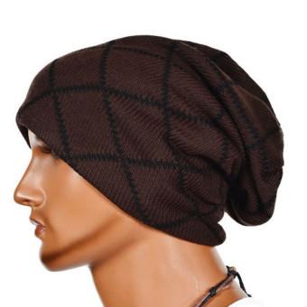 ... Baru pria wanita topi kupluk rajut hangat musim dingin Ski tengkorak jorok longgar adapula Hat kopi