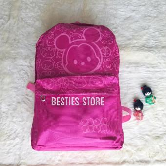 Harga Besties Tsum Canvas Tas Backpacks Ransel Fashion Wanita uk 30x45cm - Pink
