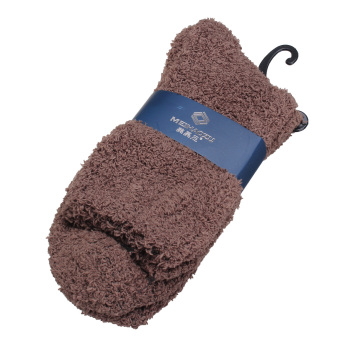 Harga Men Warm Winter Fuzzy Bed Socks Cool Pure Fluffy Thick Soft Floor Home Hosiery