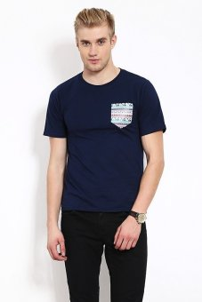 Harga QuincyLabel T-shirt Pocket - Navy